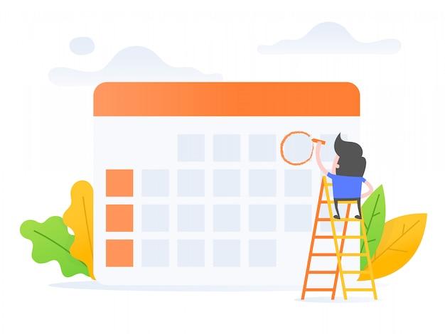 Zeitplanmanagement. Premium Vektoren