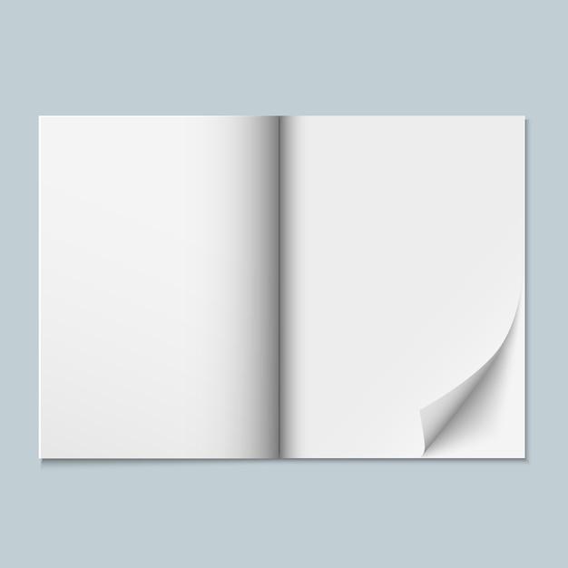 Zeitschrift, katalog oder dossier mit leeren seiten Premium Vektoren