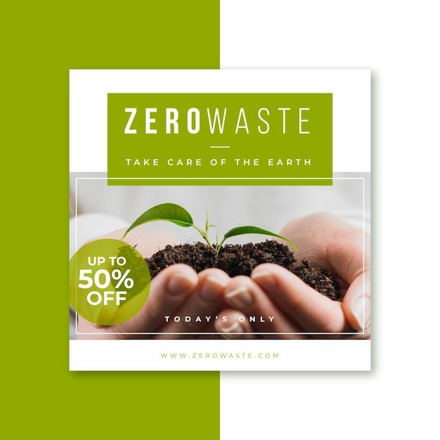 Zero waste ecology instagram geschichte Kostenlosen Vektoren