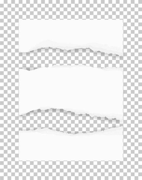 Zerrissene papierkanten für den hintergrund. Premium Vektoren