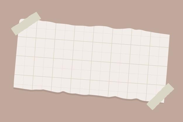 Zerrissene papiernote Kostenlosen Vektoren