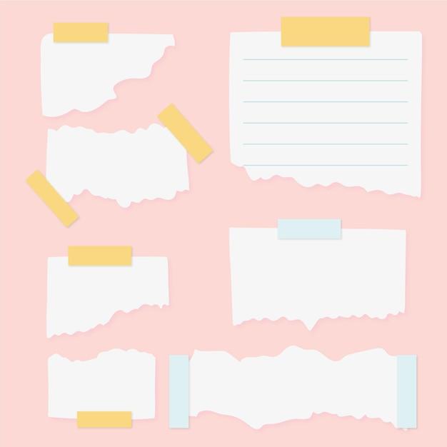 Zerrissenes papier mit klebebandsammlung Kostenlosen Vektoren