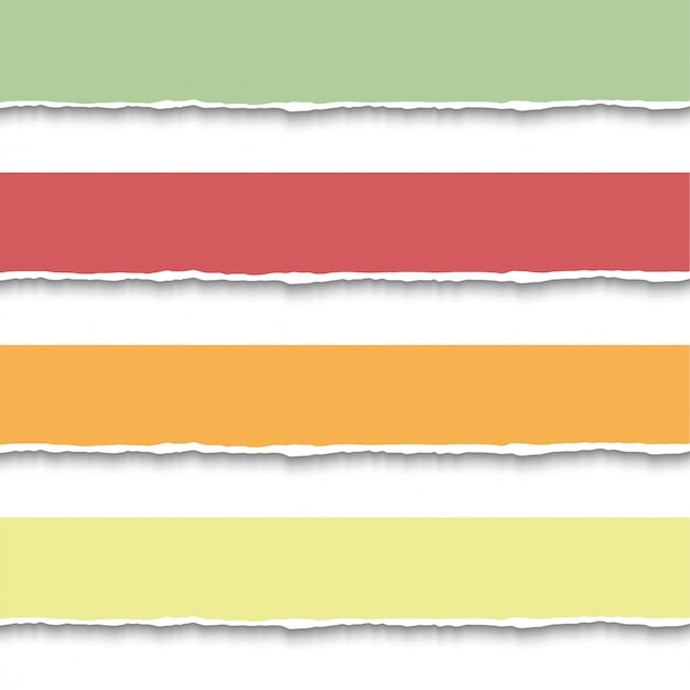 Zerrissenes papier stück banner Premium Vektoren