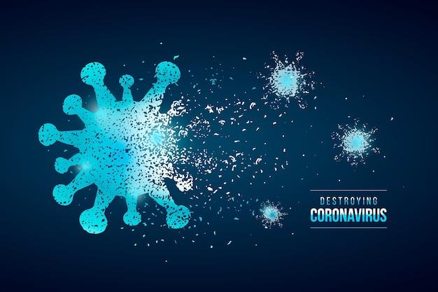 Zerstörung des coronavirus-hintergrundstils Kostenlosen Vektoren