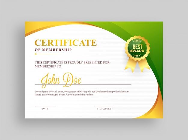 Fein Zertifikat Der Mitgliedschaft Vorlage Fotos - Beispiel ...