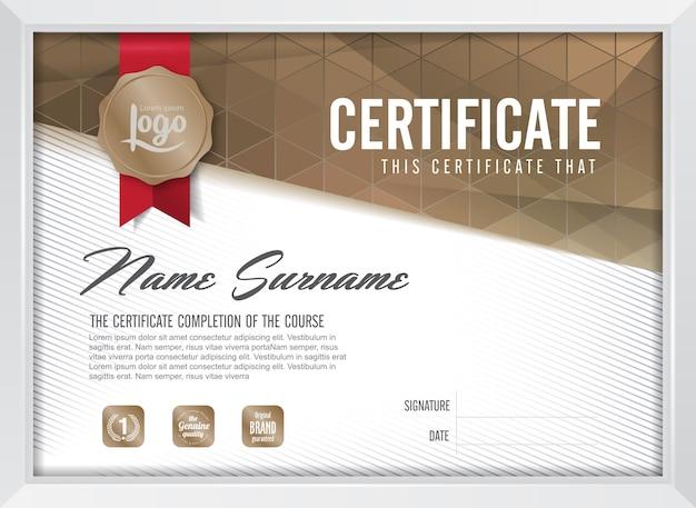 Zertifikat hintergrundvorlage Premium Vektoren
