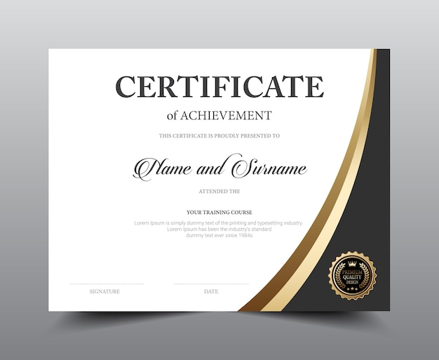 Zertifikat-layout-template-design. Premium Vektoren