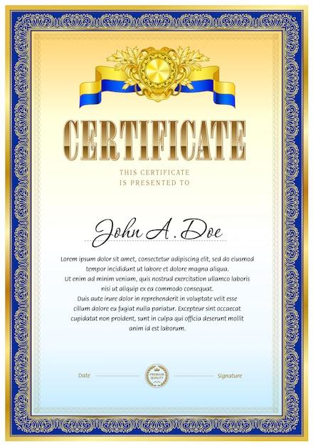 Zertifikat leere vorlage. Premium Vektoren