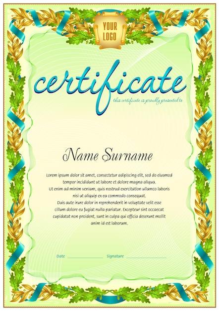 Beste Kostenlose Leere Zertifikatvorlagen Zeitgenössisch - Entry ...