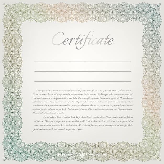 Berühmt Freie Vorlage Für Zertifikat Fotos - Bilder für das ...