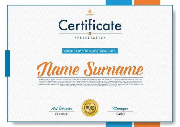 Zertifikat vorlage luxus-und diplom-stil Premium Vektoren