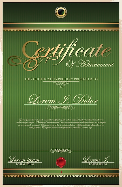Zertifikat Premium Vektoren