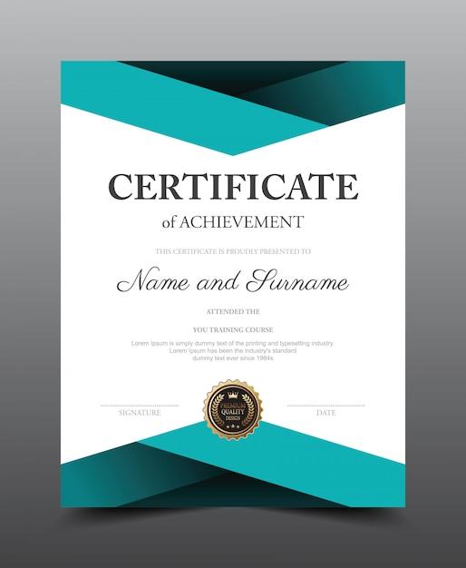 Zertifikatlayoutvorlage. luxus und moderner stil Premium Vektoren