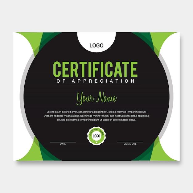 Zertifikatvorlage Premium Vektoren