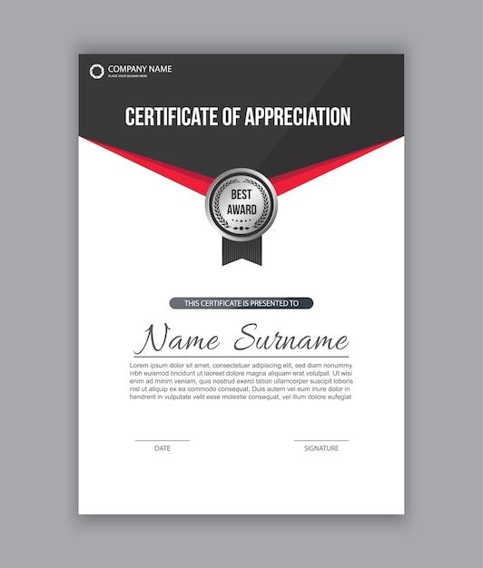 Zertifikatvorlage | Download der Premium Vektor