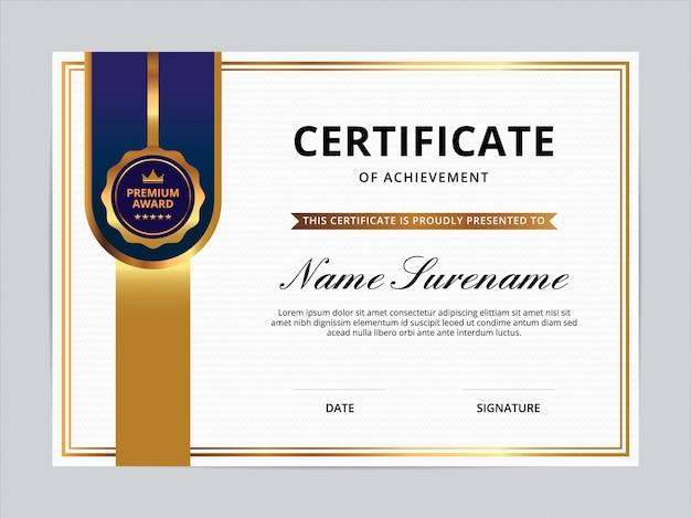 Zertifikatvorlagen-design Premium Vektoren