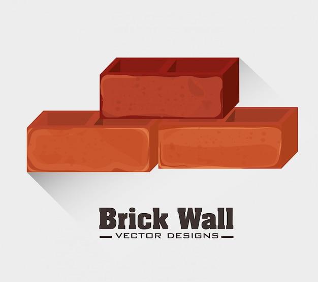 Ziegelmauer design. Premium Vektoren