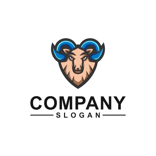 Ziegen-logo-design Premium Vektoren