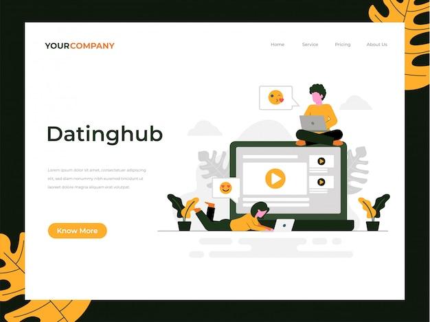 Zielseite der dating-anwendung Premium Vektoren