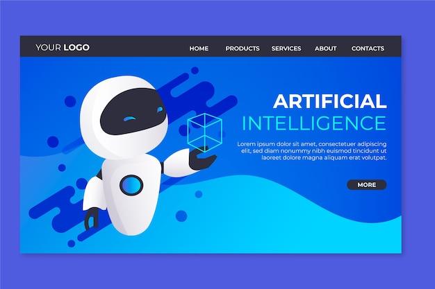 Zielseite der vorlage für künstliche intelligenz Kostenlosen Vektoren