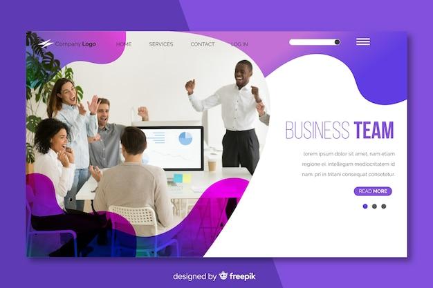 Zielseite des business-teams Kostenlosen Vektoren