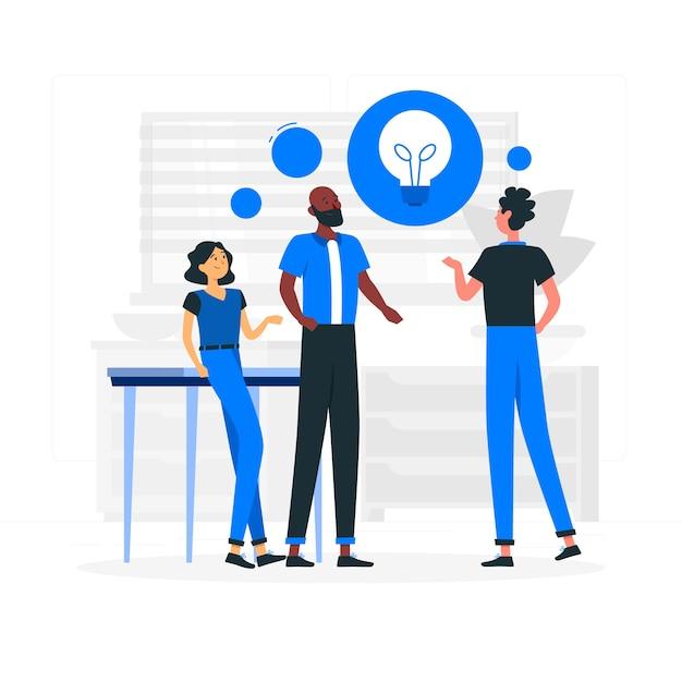 Zielseite für brainstorming-ideen Kostenlosen Vektoren