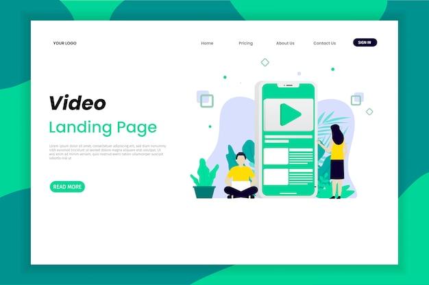Zielseite für content-marketing Premium Vektoren