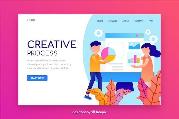 Zielseite für den creative-prozess Kostenlosen Vektoren