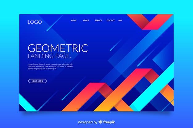 Zielseite für geometrische formen mit farbverlauf Kostenlosen Vektoren