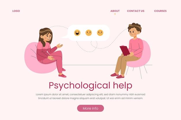 Zielseite für psychologische hilfe Kostenlosen Vektoren