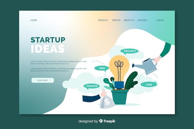 Zielseite für startup-ideen Kostenlosen Vektoren