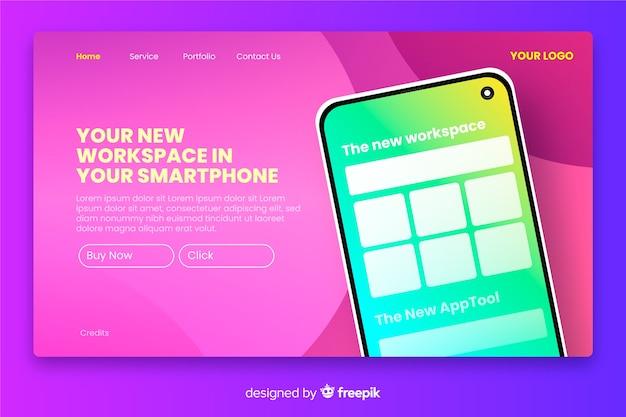Zielseite mit smartphone-thema Kostenlosen Vektoren