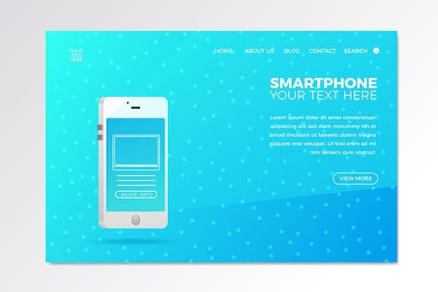 Zielseite mit telefon für geschäftsdesign Kostenlosen Vektoren