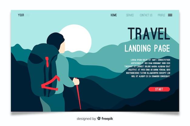 Zielseiten-reisevorlage Kostenlosen Vektoren