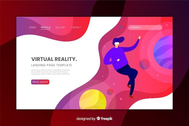 Zielseitenvorlage für virtuelle realität Kostenlosen Vektoren