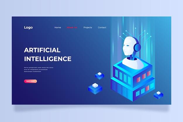 Zielseitenvorlage künstliche intelligenz Kostenlosen Vektoren