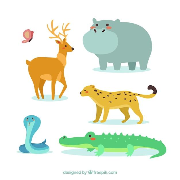 Ziemlich wilde tiere Kostenlosen Vektoren