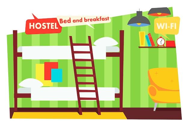 Zimmer im hostel Kostenlosen Vektoren