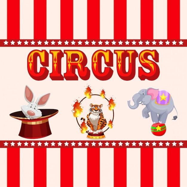 Zirkus, jahrmarkt, vergnügungsparkthema Kostenlosen Vektoren
