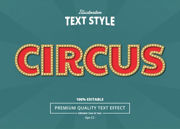 Zirkus-texteffekt Premium Vektoren
