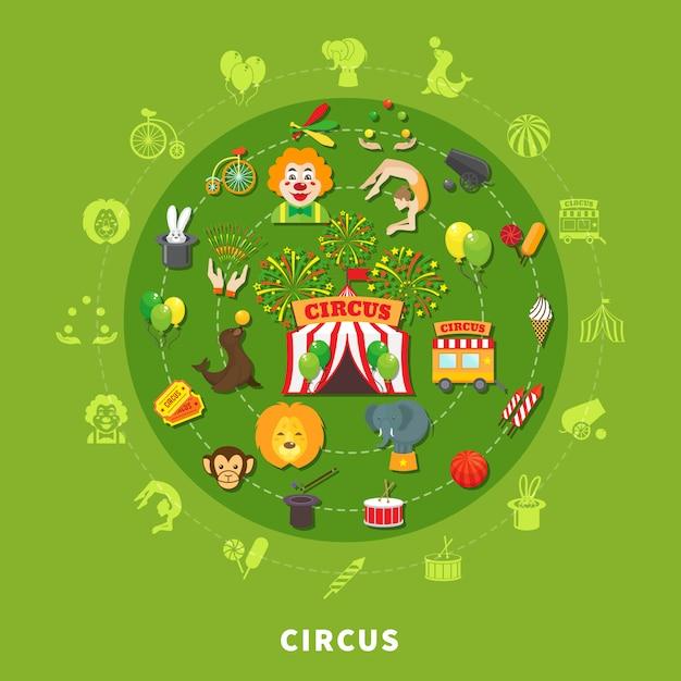 Zirkus-vektor-illustration Kostenlosen Vektoren