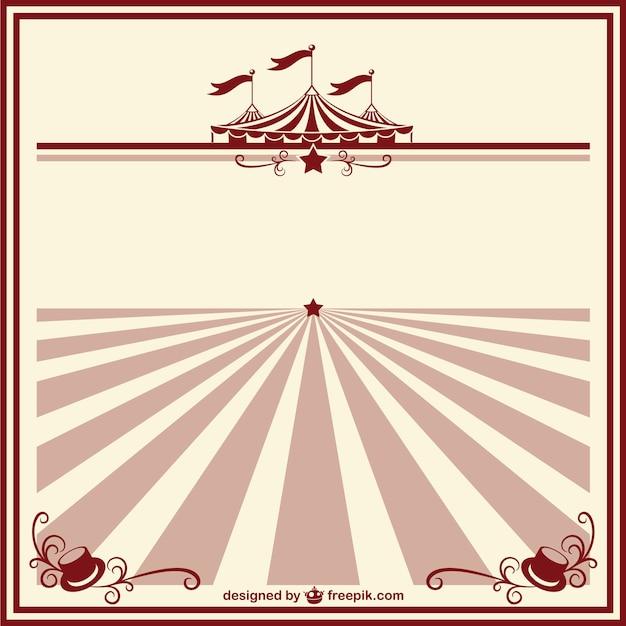 Zirkus Vintage Poster-Vorlage | Download der kostenlosen Vektor