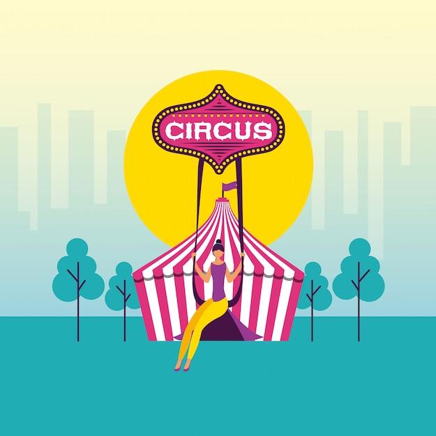 Zirkusspaßmesse Kostenlosen Vektoren