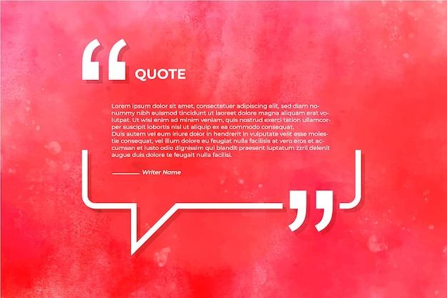 Zitat mit aquarellbeschaffenheitshintergrund Kostenlosen Vektoren