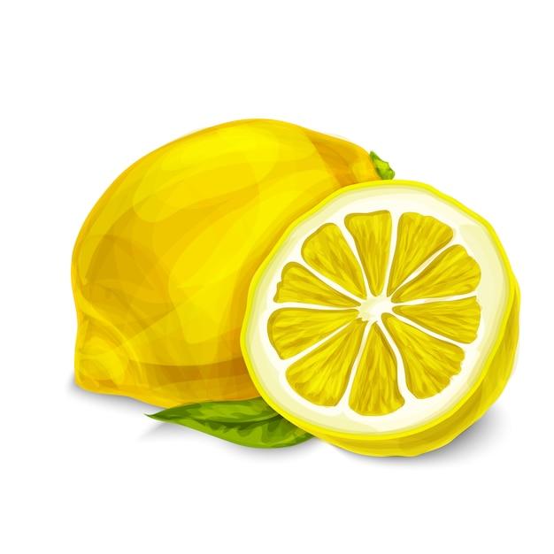 Zitrone getrennte abbildung Kostenlosen Vektoren