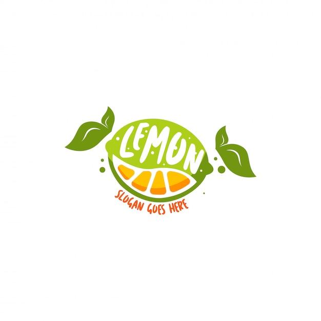 Zitronen-logo Premium Vektoren