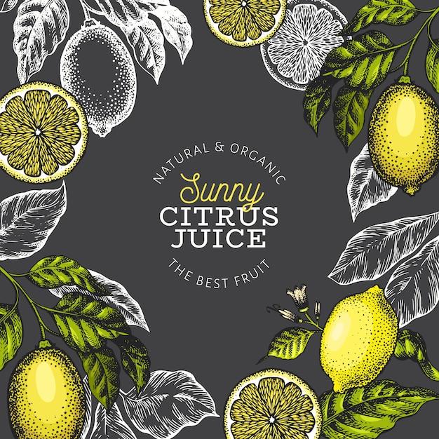 Zitronenbaum banner vorlage Premium Vektoren
