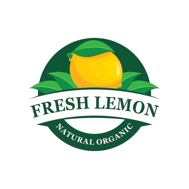 Zitronenfarm logo emblem Premium Vektoren