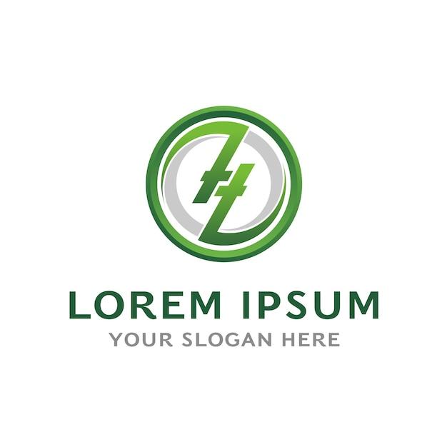 Zl-logo brief Premium Vektoren