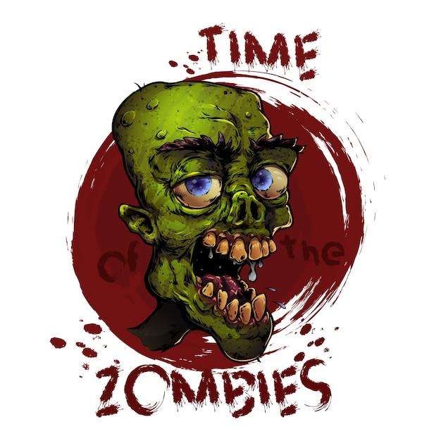 Zombie-aufkleber Premium Vektoren